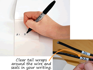 Self-Laminating Wire Write-On Label