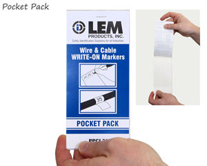 Self-Laminating Wire Write-On Labels Pack