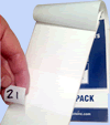 Self-Laminating Labels in a Handy Book